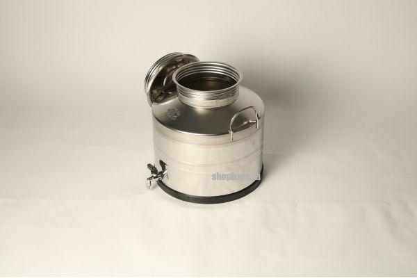 Бидон из нержавеющей стали 30 литров с вальцованным дном