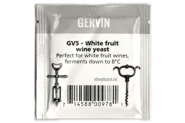 Дрожжи винные Gervin GV5 White Fruit Wine